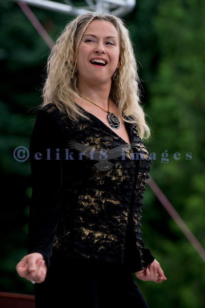 The Curtis Salgado Band, whose namesake survived cancer, performed with a full ensemble at the Mt. Baker Rhythm and Blues Festival in Deming, Washington. Margaret Linn: backing vocals