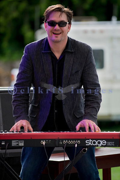 The Curtis Salgado Band, whose namesake survived cancer, performed with a full ensemble at the Mt. Baker Rhythm and Blues Festival in Deming, Washington. Dave Fleschner: keyboards
