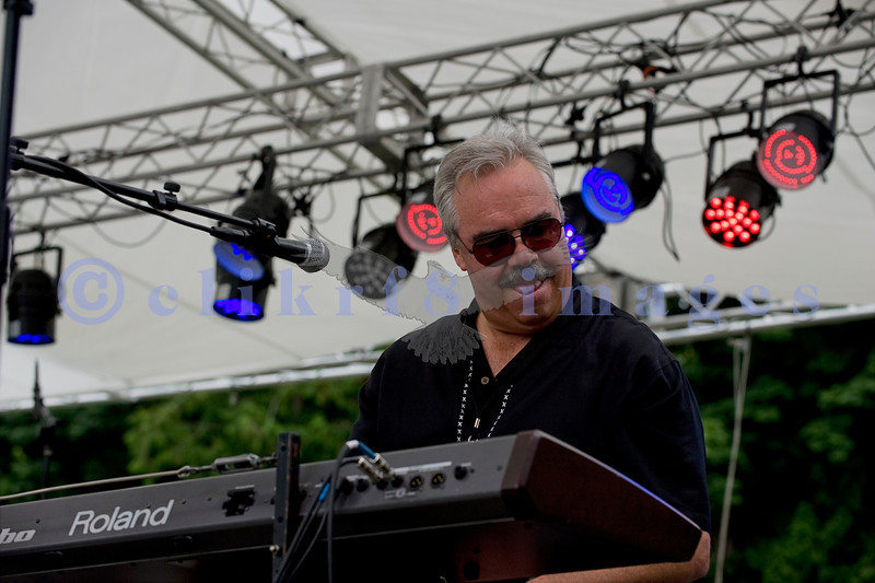 The Fat James Band, legendary Pacific Northwest Washington blues band, reunited with the entire original members for the crowd on Sunday, July 31. Dave Cashin, keyboards