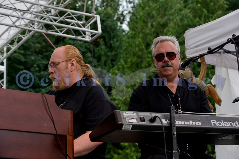 The Fat James Band, legendary Pacific Northwest Washington blues band, reunited with the entire original members for the crowd on Sunday, July 31. Joining the band later on stage were Mark Chapman and Sweet Talkin' Jones. Mark Whitman and Dave Cashin, keyboards