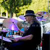 American roots musics artist Shane Dwight and his band made their third consecutive appearance at the Mt. Baker Rhythm and Blues Festival closing Sunday night, July 31, 2011. Jerome Kinsey, drums