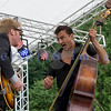 Multiple nominees of the Canada's Maple Award for individual blues musicians, The Twisters entertained the appreciative audience  on Sunday afternoon, July 31, 2011. Brandon Isaak, electric guitar and vocals; Keith Picot, stand up bass