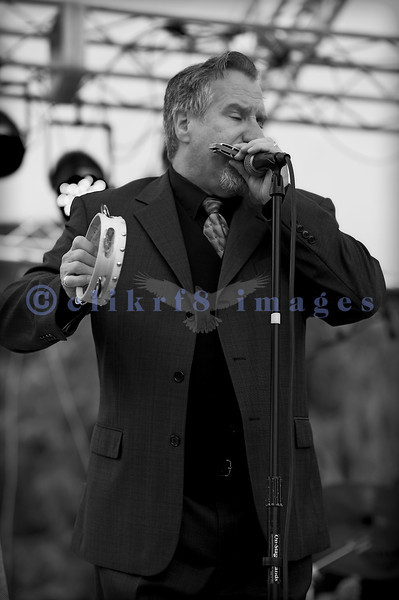 """Multiple nominees of the Canada's Maple Award for individual blues musicians, The Twisters entertained the appreciative audience  on Sunday afternoon, July 31, 2011. Dave """"Hurricane Dave"""" Hoerl, harmonica and vocals"""