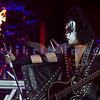 Gene Simmons, one of the two remaining KISS founding members, plays the crowd at the Chippewa Valley Rock Festival in 2007.