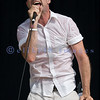 Frontman Gordon Downie of the Canadian band The Tragically Hip at the Chippewa Valley Rock Festival.