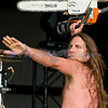 Wild and crazy frontman Jesse James Dupree of Jackyl performs at the 2008 Chippewa Valley Rock Festival in Cadott, Wisconsin.