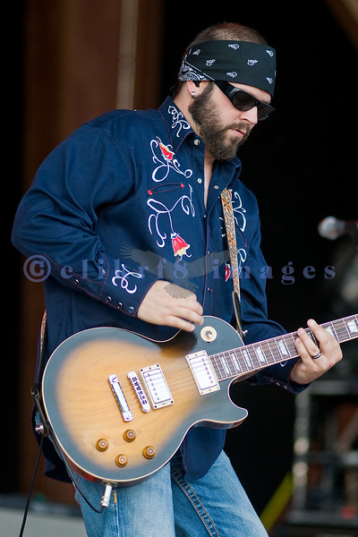 Chad Taylor, lead guitarist for the band Live at the Chippewa Valley Rock Festival.