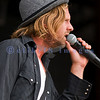 Torrential rains shortened the set by Switchfoot at the Chippewa Valley Rock Festival on Sunday. Here is Jon Foreman, their vocalist who also plays guitar.