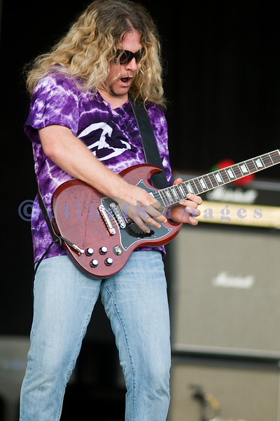 Lead guitarist Frank Hannon of Tesla on stage at the Chippewa Valley Rock Festival.