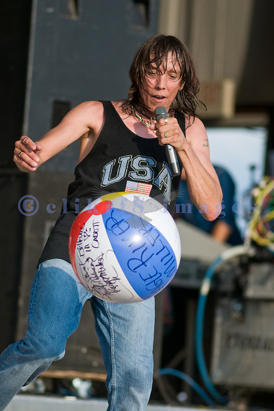 Jeff Keith is the frontman for Tesla as they perform at the Chippewa Valley Rock Festival.
