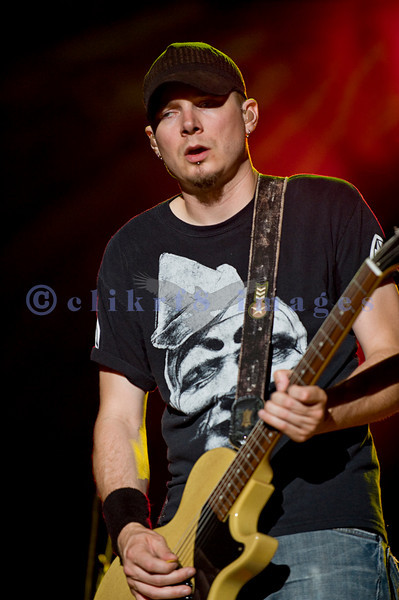 Friday night at the Chippewa Valley Rock Festival saw the band Theory Of A Deadman perform before the crowd.