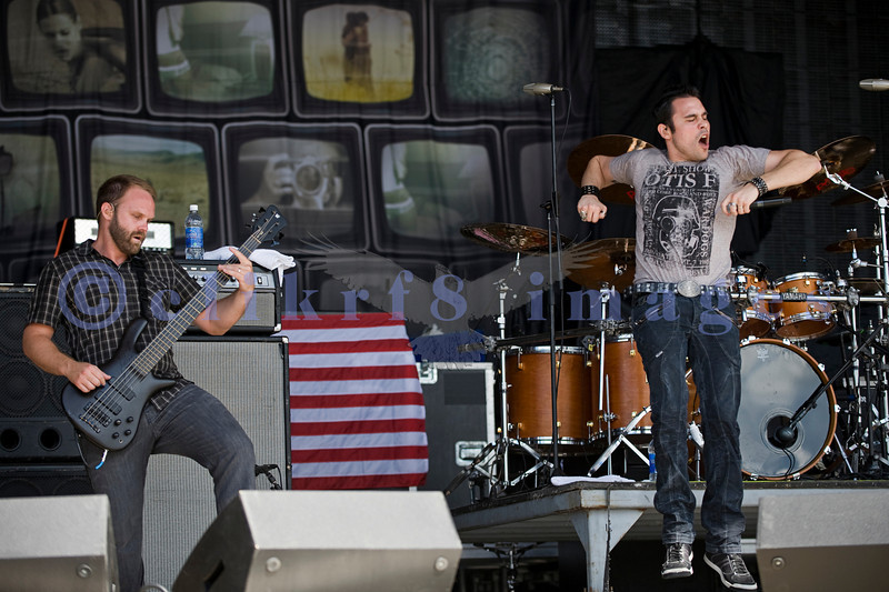 Trapt took to the stage Sunday afternoon at the Chippewa Valley Rock Festival last July.