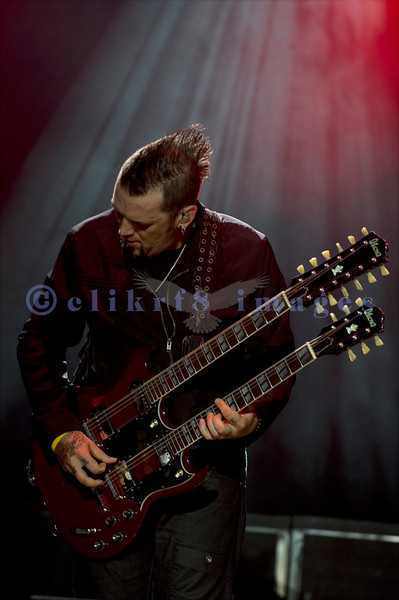 Three Days Grace, a Canadian band and Billboard's 2007 Top Artist of the Year among other honors, rocked the crowd Thursday at the Chippewa Valley Rock Festival in Cadot, WI. Barry Stock, lead guitar