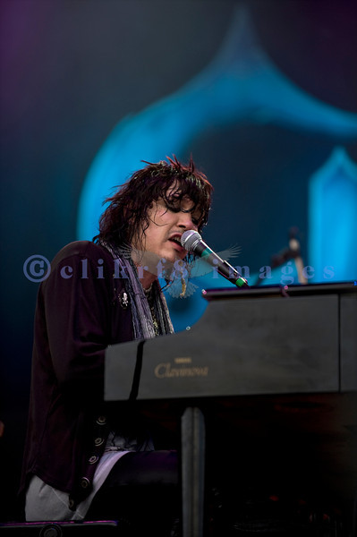 "Cinderella, whose hits include ""Nobody's Fool"" and ""Don't Know What You Got (Till It's Gone)"", put on an energetic show at the Chippewa Valley Rock Festival in Cadot, WI. Tom Keifer, vocals and keyboards"