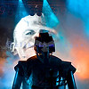 Rob Zombie, creative genius of theater and music, has been nominated three times as a solo artist for the Grammy Award for Best Metal Performance. He and his band lived up to the hype with a stellar stage and performance. stage set