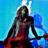 Rob Zombie, creative genius of theater and music, has been nominated three times as a solo artist for the Grammy Award for Best Metal Performance. He and his band lived up to the hype with a stellar stage and performance. Piggy D, bass guitar