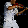Back for a second year in a row, Christian rock band Skillet, was again a crowd favorite with their stage show of moving pedestals, pyros, and talented musicians at the Chippewa Valley Rock Festival in Cadot, WI. Jonathan Chu, violin