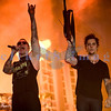 Avenged Sevenfold, aka A7X, heavy metal musicians voted second on Ultimate Guitar's Top Ten Bands of the Decade (2000-2010), closed out Saturday night like a band of their caliber should. M. Shadows, lead vocals; Synyster Gates, lead guitar
