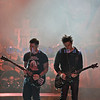 Avenged Sevenfold, aka A7X, heavy metal musicians voted second on Ultimate Guitar's Top Ten Bands of the Decade (2000-2010), closed out Saturday night like a band of their caliber should. Zachy Vengeance, rhythm guitar; Synyster Gates, lead guitar