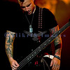 Avenged Sevenfold, aka A7X, heavy metal musicians voted second on Ultimate Guitar's Top Ten Bands of the Decade (2000-2010), closed out Saturday night like a band of their caliber should. Johnny Christ, bass guitar