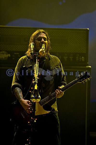 Branded as a post grunge alternative metal band, this trio from Pretoria, South Africa played a dark set that seemed to drone on forever. The stage lighting was dark, too. Shaun Morgan, lead vocalist and guitar