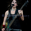 The Sick Puppies, an Australian rock trio, had some of the better rapport with the crowd on Saturday at the Chippewa Valley Rock Festival. Emma Anzai, bass guitar and backing vocals
