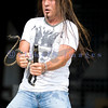 Chainsaw wielding Jackyl frontman Jesse James Dupree reprised his role from several years ago at the Chippewa Valley Rock Festival in Cadot, WI.