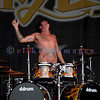 Chainsaw wielding Jackyl frontman Jesse James Dupree reprised his role from several years ago at the Chippewa Valley Rock Festival in Cadot, WI. Chris Worley, drums