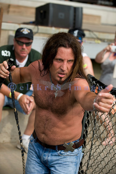 Chainsaw wielding Jackyl frontman Jesse James Dupree reprised his role from several years ago at the Chippewa Valley Rock Festival in Cadot, WI. Jesse James Dupree, lead vocals