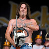 Chainsaw wielding Jackyl frontman Jesse James Dupree reprised his role from several years ago at the Chippewa Valley Rock Festival in Cadot, WI. Jesse James Dupree, lead vocals and Stihl chainsaw