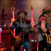 Last minute replacement for Sunday's headliners Heart and Def Leppard, the Ted Nugent Band with its array of guitars as a backdrop showed that old rockers still rock. Ted Nugent, guitar and vocals; Derek St. Holmes, guitar and vocals