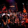 """Last minute replacement for Sunday's headliners Heart and Def Leppard, the Ted Nugent Band with its array of guitars as a backdrop showed that old rockers still rock. """"Wild"""" Mick Brown, drums; Derek St. Holmes, guitar and vocals; Ted Nugent, guitar and vocals; Greg Smith, bass guitar"""