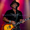 Last minute replacement for Sunday's headliners Heart and Def Leppard, the Ted Nugent Band with its array of guitars as a backdrop showed that old rockers still rock. Derek St. Holmes, guitar and vocals