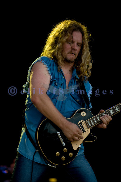 80s rock band Tesla was also a repeat from several years ago on Sunday at the Chippewa Valley Rock Festival in Cadot, WI. Frank Hannon, lead guitar