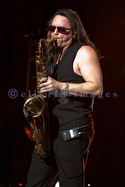 "The homecoming show after a national tour for Queensryche at the Paramount Theater in Seattle on March 1, 2008: Geoff Tate on vocals and sax covering Pink Floyd's ""Welcome to the Machine""."