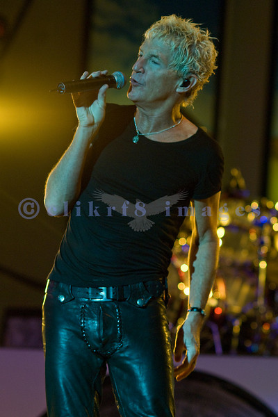 Kevin Cronin, frontman for REO Speedwagon performs at the Northwest Washington Fair in August 2007.