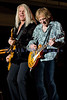 Dave Amato, lead guitarist, and Bruce Hall, bassist for REO Speedwagon, on stage at the Northwest Washington Fair in Lynden August 2007.