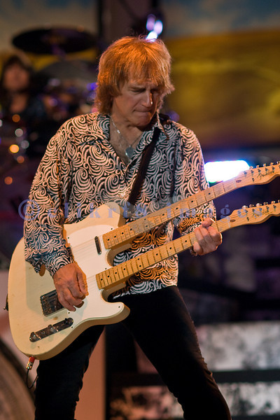 Dave Amato, lead guitarist for REO Speedwagon, on stage at the Northwest Washington Fair in Lynden August 2007.