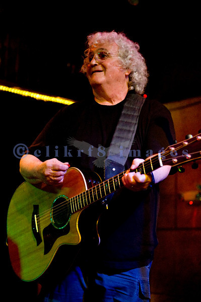 David Freiberg, still going strong at 72, on vocals and guitar on stage at the Wild Buffalo House Of Music in Bellingham, WA.