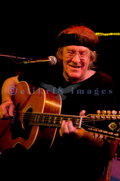 Paul Kantner, guitar/vocals on the stage at the Wild Buffalo House of Music in Bellingham, WA.