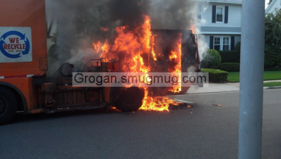 Sanitation Truck Fire 9/24/12
