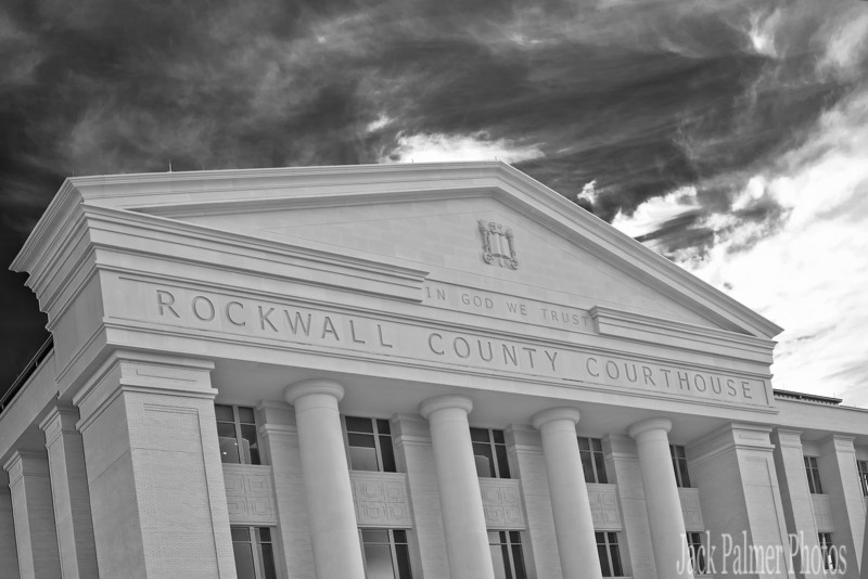 Rockwall, TX     Partial view of the 'front' of the new County Courthouse.