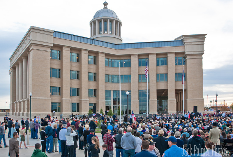 Rockwall, TX People attending Veteran's Day Memorial-Dedication @ new County Courthouse 11-11-11