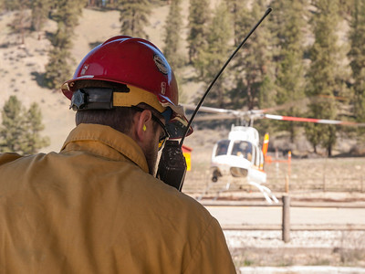 Rocky Canyon Prescribed Burn, Boise National Forest, April 4, 2014