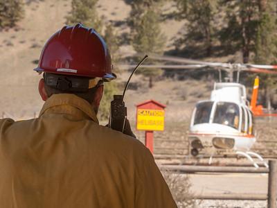 Rocky Canyon Prescribed Burn, Boise National Forest, April 4, 2014