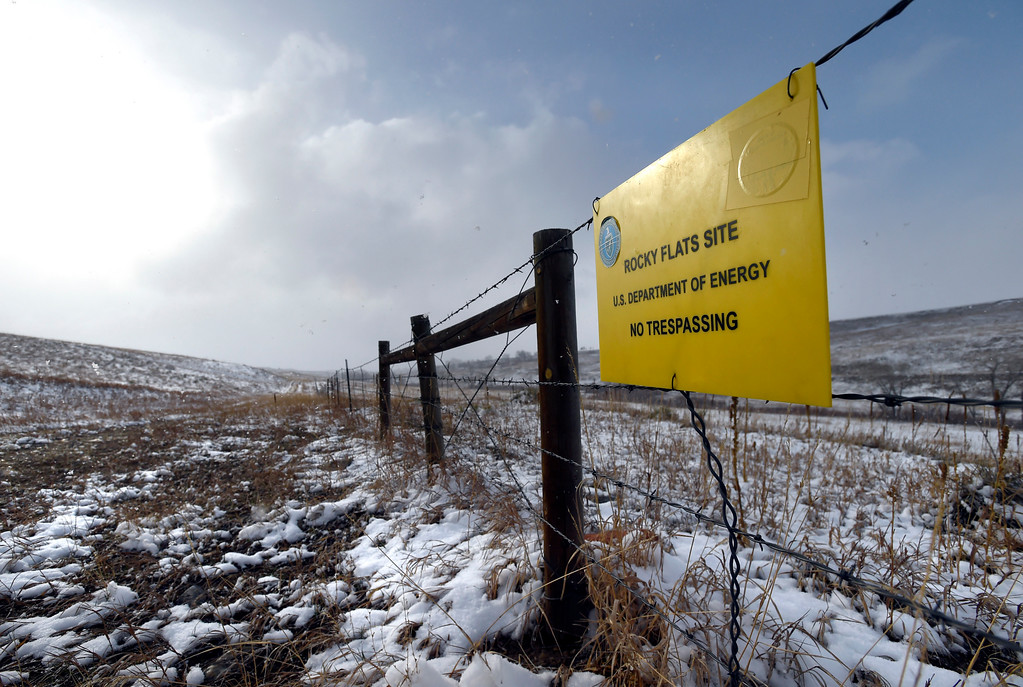 . BEST 3. A sign hangs on a fence at the Rocky Flats Wildlife Refuge on Friday. Jeremy Papasso/ Staff Photographer/ Feb. 24, 2017