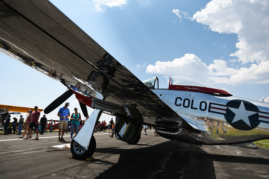 . The Broomfield Air and Car Show was held at the Rocky Mountain Metropolitan Airport on Saturday.  Kira Vos / Special to the Camera / August 4, 2018