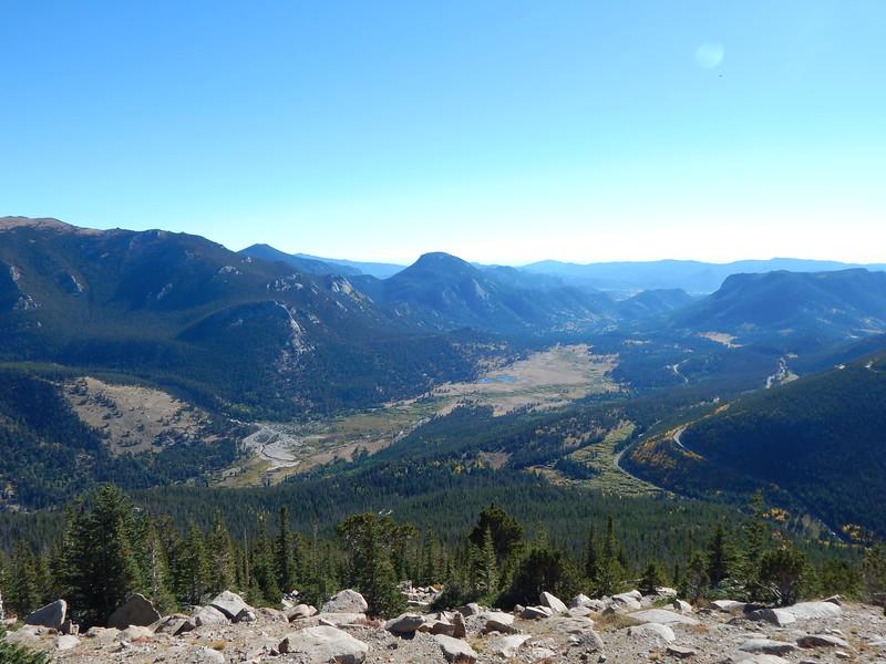 The valley below looking toward the east