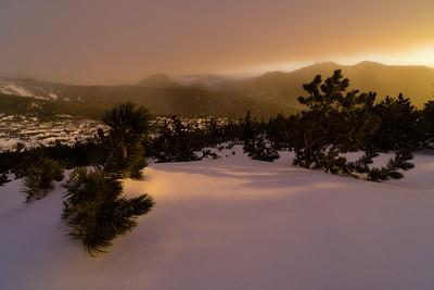 Winter Sunrise on Longs Peak