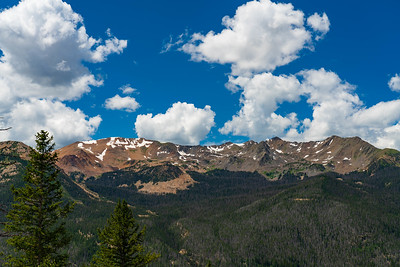 High Colorado Rockies from Fairview Point on the Trail Ridge Road